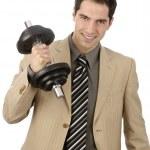 Businessman has Power — Stock Photo
