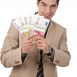 Businessman has money — Stock Photo