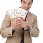 Businessman has money — Stock Photo