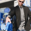 Young man at gas station — Stock Photo #4469011