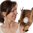 Baseball Girl - Stock Photo