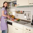 Housewife in her kitchen — Stock Photo #4469841