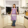 Housewife in her kitchen — Stock Photo #4470959