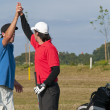 Two young golfers are frustrated - Stok fotoraf
