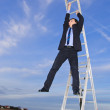 Manager is on the career ladder — Stock Photo