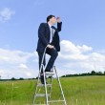 Manager ist auf der Karriereleiter — Stockfoto
