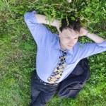 Manager entspannen im freien — Stockfoto
