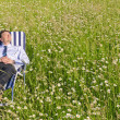 Manager relaxing outdoor — Stockfoto
