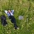 Manager relax all'aperto — Foto Stock