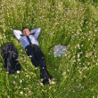 Stockfoto: Manager relaxing outdoor