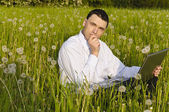 Manager working outdoor — Stock Photo