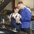 Female auto mechanic — Stock Photo #5030380