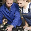 Female auto mechanic — Stock Photo #5030589