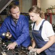 Female auto mechanic — Stock Photo #5030625