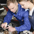 Female auto mechanic — Stock Photo #5030771