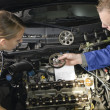 Stock Photo: Female auto mechanic