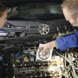 Female auto mechanic - Foto Stock