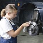 Female car mechanic — Stock Photo #5031164