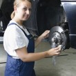 Female car mechanic — Stock Photo