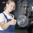Stock Photo: Female car mechanic