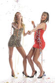 Two sexy girls have a party — Stock Photo