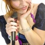 Pretty girl singing — Stock Photo #5105909