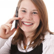 Cute girl with telephone — Stock Photo #5141036