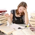 Cute girl doing homework — Stock Photo #5142066