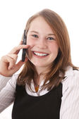 Linda chica con teléfono — Foto de Stock