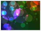 Varicoloured bright circles on a dark background — Stock Vector