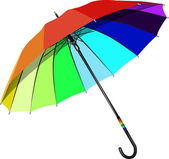 Umbrella with rainbow colors on a white background — Stock Vector