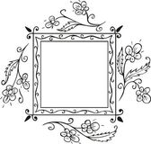 Floral frame decoration — Stock Vector