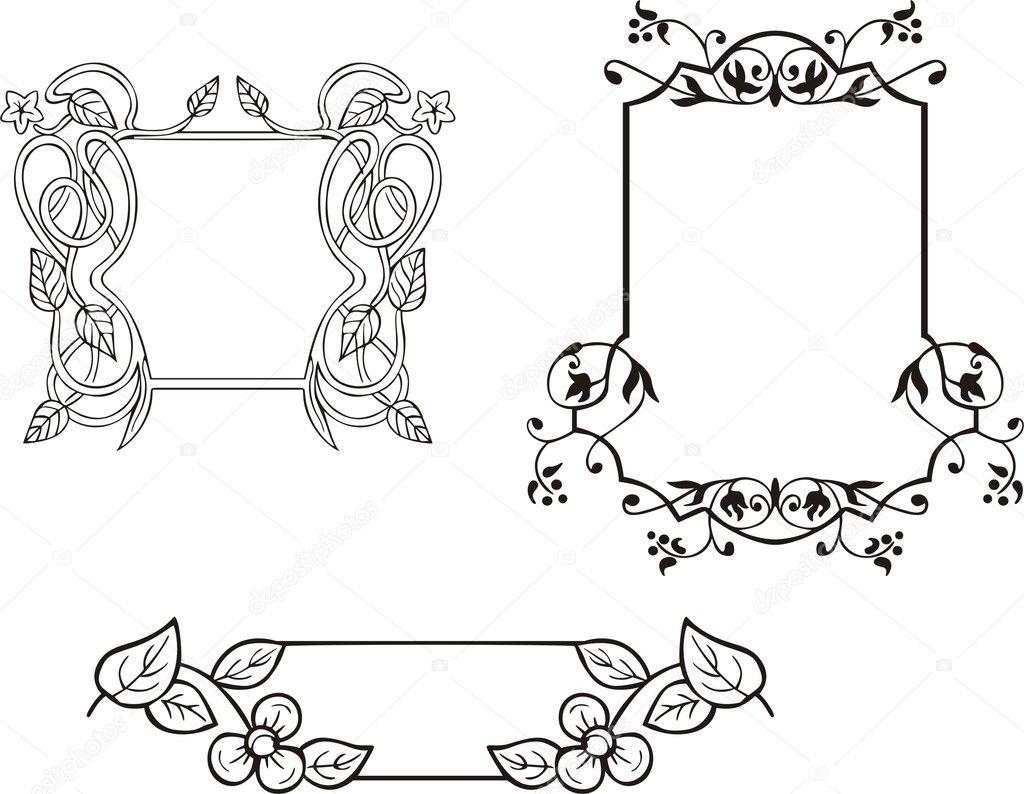 Нарисованные рамки с узорами