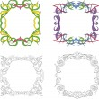 Square decoration frames — Stock Vector