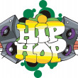 Stock Vector: Hip Hop graffiti design