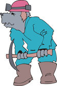 Dog builder cartoon — Stock Vector