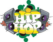 Hip Hop graffiti design — Stock Vector