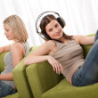 Student series - Two students sitting on armchairs — Stock Photo #4681309