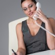 Executive businesswoman on the phone at office — Stock Photo #4681921