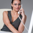 Executive businesswoman calling at office — Stock Photo #4681922