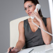 Executive businesswoman on the phone at office — Stock Photo #4681923