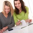 Student series - Two students writing homework — Stock Photo