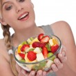 Healthy lifestyle series - Bowl of fruit salad — Stock Photo