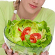 Healthy lifestyle series - Lettuce with tomatoes — Stock Photo