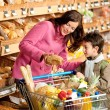 Grocery store shopping - Woman with little boy — Stock Photo #4684177