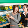Grocery store shopping - Two business women — Stock Photo #4684571