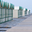 Row of beach huts - Stok fotoğraf
