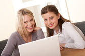 Student series - Two students with laptop — Stock Photo