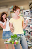 Shopping series - Red hair woman — Stock Photo