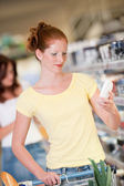 Shopping series - Woman in supermarket — Foto Stock